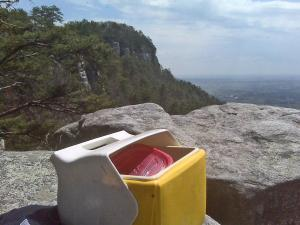 One of my better lunch spots this summer, Pilot Mountain offers some wonderful views.