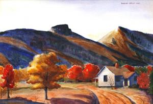 Attacoa by William Leslie.  Autumn at Table Rock near Linville Gorge.