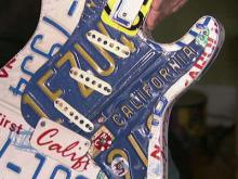 Cary man makes guitars out of license plates