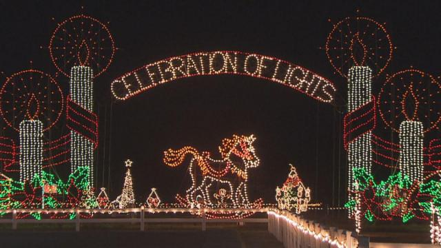 The Meadow Lights covers 30 acres and is believed to be the oldest and largest Christmas light show in eastern North Carolina.