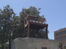 Thomasville in Davidson County is known for furniture, so a 30-foot chair makes for a fitting landmark. The chair has sat downtown for more than 60 years.