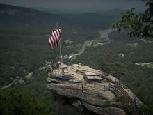 Chimney Rock offers vantage over valleys below