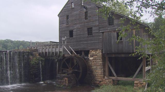 Yates Mill, a fully restored 1756 grist mill, is the centerpiece of Saturday's Harvest Festival at Yates Mill County Park in Raleigh.