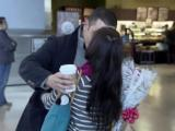 Valentine's Day means special reunions at airport