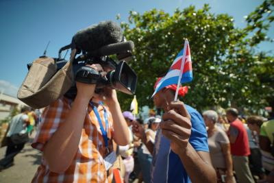 Cubans gathered to welcome Pope Francis to their country.