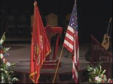 Funeral services remember fallen Marine