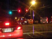 Car accident aftermath - Cary Pkwy & Kildaire Farm Rd. (Jan. 25th, 2010)