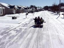 Snow Boating in Wilson, NC