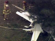Sky 5 coverage of Chapel Hill plane crash