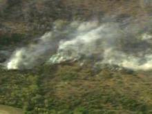 Raw: Wildfire in Sampson County