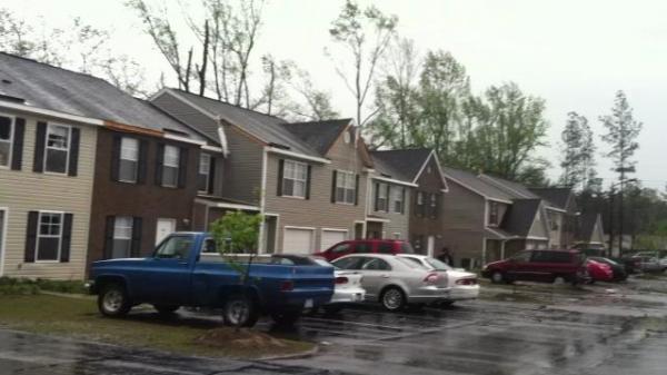 tornado damage raleigh nc. Tornado damage at Long Hill