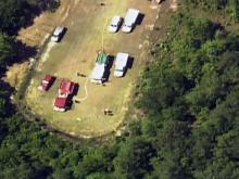 Sky 5 coverage of Linden plane crash