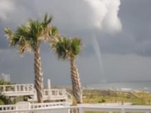Toronado and waterspout Carolina Beach