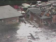 Raw: Aftermath of Navy jet crash