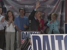 Walter Dalton addresses supporters after primary win
