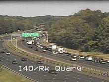 Live: Traffic on I-40 at Rock Quarry
