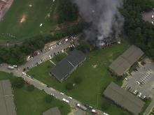 Sky 5: Fire engulfs Durham apartment building
