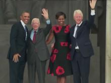 Obama marks March on Washington