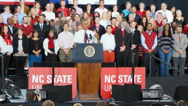 President Obama speaks at N.C. State