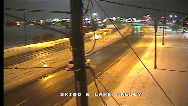 Snow falling in Fayetteville