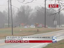 Students injured in Johnston bus crash