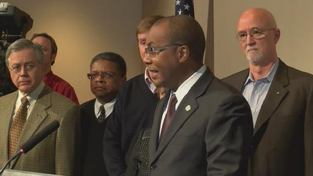 News conference on Charlotte mayor arrest