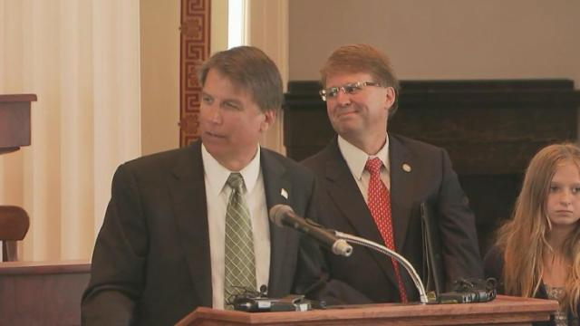 McCrory holds news conference