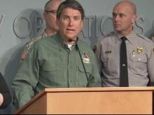 McCrory gives update on winter storm cleanup