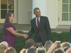 Obama pardons Thanksgiving turkey at White House