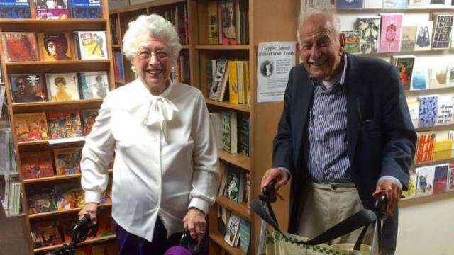 Miriam Steiner and Harold Sharlin are both in their 90s, and both have been single since losing their spouses several decades ago. While both are perfectly happy, it's difficult not to feel a bit lonely at times.