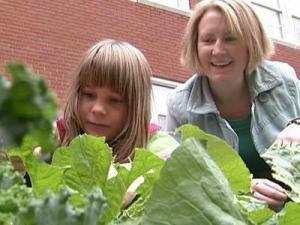 George Watts Montessori Magnet School's classes rotate garden maintenance duty every week and take care of the vegetables, such as broccoli, cabbage, green onions, radishes, lettuce and herbs.