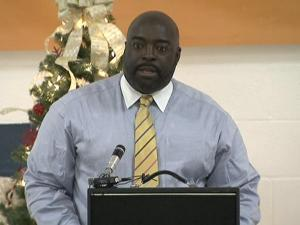 Wake County school board member Keith Sutton was the featured speaker at a forum Wednesday about neighborhood schools.