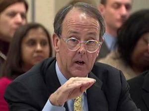 UNC President Erskine Bowles speaks at a Board of Governors meeting on Jan. 7, 2010.