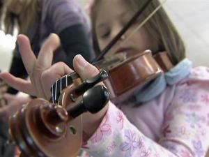 Arts education is a priority at Eastover-Central Elementary School of the Arts in Cumberland County. Students as young as pre-kindergartners learn to play the violin.
