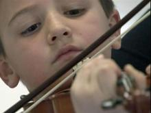 Violins fly at Cumberland elementary school