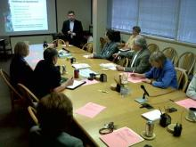 The Wake County Board of Education on Friday, April 23, 2010, hears John Tedesco's vision for how his assignment committee should work with the community to build a plan for a community-based attendance system.