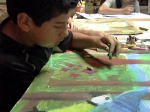Students learn how to create works of art at Artspace in Raleigh.