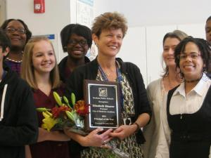 City of Medicine Academy Principal Elizabeth Shearer (Photo courtesy of Durham Public Schools)