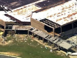 An April 16, 2011, tornado devastated Greene County Middle School in Snow Hill.
