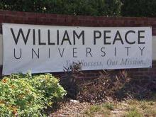 William Peace University sign