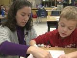 Teacher's calm demeanor rubs off on students
