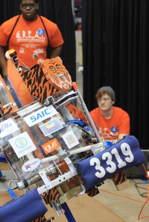 Fifty-four high school teams from across the Southeast participated in the FIRST Robotics Competition North Carolina Regional at Dorton Arena on Saturday, March 16 (photo by Will Okun)