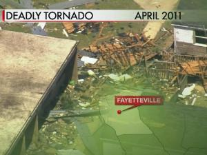 Ben Martin Elementary School in Fayetteville sustained millions of dollars in damage in a tornado in April 2011.