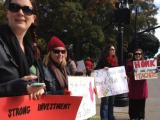 NC Capitol protest teacher spending cuts