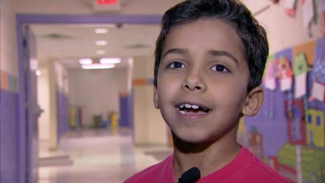 Oak Grove Elementary School second-grader Sam Majmundar
