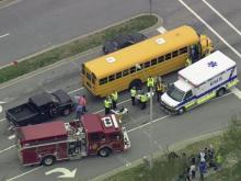 Sky 5: Truck hits Wake County bus