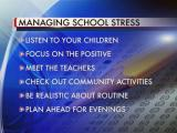Managing back-to-school stress