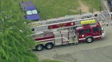 Apex High School was evacuated after a small fire in a chemistry lab Friday, May 15, 2015.