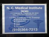 North Carolina Medical Institute sign