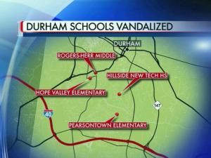 Four Durham schools were broken into on Nov. 2, 2015.